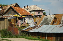 Gipsy village Betlanovce. Gipsy village - Betlanovce is home for quite 2000 people. Most of them live in homes without electricity and drinking water Royalty Free Stock Photography