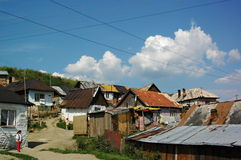Gipsy village Betlanovce Royalty Free Stock Image