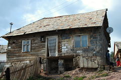 Gipsy village Betlanovce. Gipsy village - Betlanovce is home for quite 2000 people. Most of them live in homes without electricity and drinking water Royalty Free Stock Photo