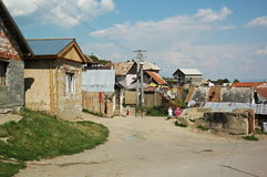 Gipsy village Betlanovce. Gipsy village - Betlanovce is home for quite 2000 people. Most of them live in homes without electricity and drinking water Stock Images