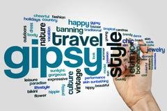 Gipsy word cloud Stock Image