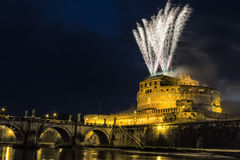 Girândola de Castel Sant ' Angelo imagem de stock royalty free