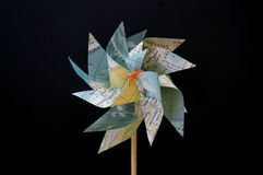 Girândola de papel da flor do moinho de vento Imagens de Stock Royalty Free