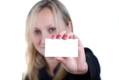 gir визитной карточки его показ стоковое фото rf