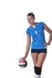gir играя волейбол Стоковые Фото