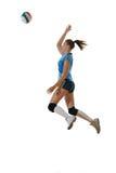 gir играя волейбол Стоковое Изображение RF