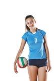 gir играя волейбол Стоковое фото RF