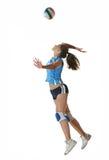 Gir che gioca pallavolo Fotografie Stock