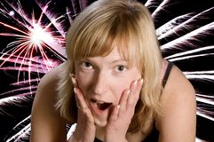 gir expression 8th fireworks 1 Royalty Free Stock Photo