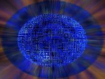 Gir intornoare alla sfera Immagine Stock