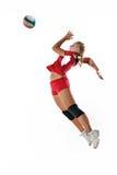 Gir jouant au volleyball image libre de droits