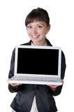 Gir with laptop Stock Photos