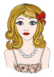 красивейшая девушка романтичная gir принцессы llustration плакат девушки Стоковое фото RF