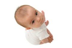 Gir misturado velho do bebê de sete meses Fotografia de Stock Royalty Free