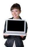 Gir mit Laptop Stockfotos