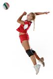 Gir playing volleyball Royalty Free Stock Images