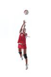 Gir playing volleyball Royalty Free Stock Photography