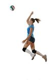 Gir playing volleyball Royalty Free Stock Image