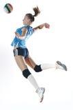 Gir que juega a voleibol Imagen de archivo