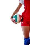 Gir que juega a voleibol Fotografía de archivo libre de regalías
