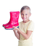 Gir with rubber boots Stock Image