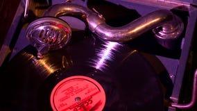 Giradischi della fonografo dei tempi dell'URSS video d archivio