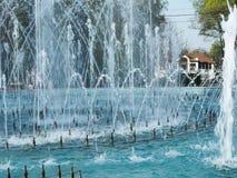 Girado la fuente en el parque de la ciudad Fotografía de archivo libre de regalías