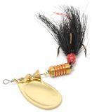 Girador da pesca da cauda do galo (atração de colher) Foto de Stock Royalty Free