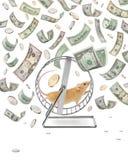Girador do dinheiro Fotografia de Stock Royalty Free