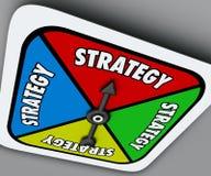 Girador do jogo de mesa da palavra da estratégia sua competição da vitória da volta Fotografia de Stock