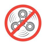 Girador isométrico da mão isolado no fundo branco Proibido ou não reservado usar um conceito do girador da inquietação ilustração do vetor