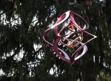 Girador moderno do vento no roxo e na prata imagens de stock
