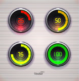 Giradores coloridos da carga Barra do fazendo download da Web do progresso do Preloader Projeto Elementt para a Web ou o App Fotos de Stock Royalty Free
