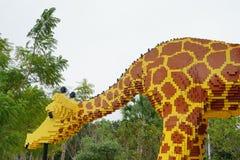 Giraf door lego wordt gemaakt die Stock Fotografie
