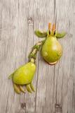 Giraf van vruchten wordt gemaakt die Stock Afbeeldingen