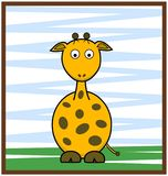 Giraf vectorillustratie stock afbeelding