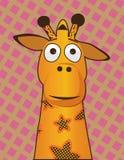 Girafa amarelo abundante Fotos de Stock Royalty Free