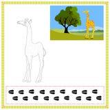 Girafa da coloração Fotos de Stock