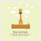 Girafa do divertimento, cartão, vetor Imagem de Stock