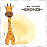 Girafa do divertimento, cartão, vetor Fotografia de Stock