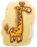 Girafa dos desenhos animados no fundo Imagens de Stock