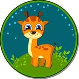 Girafbeeldverhaal sticker Royalty-vrije Stock Afbeeldingen