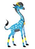 Girafe avec des nuages Photo libre de droits