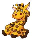 Girafe Cartoon Funny Illustration Royalty Free Stock Photo
