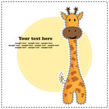Girafe d'amusement, carte de voeux, vecteur Photos stock