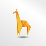 Girafe d'origami Photo stock