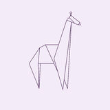 Girafe d'origami illustration libre de droits