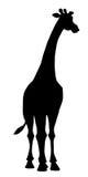 Girafe de silhouette Photographie stock libre de droits