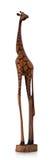 Girafe en bois Image stock