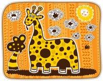 Girafe jaune décorative Images libres de droits